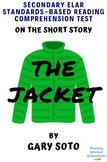 """The Jacket"" by Gary Soto MC Reading Comprehension Quiz Test"