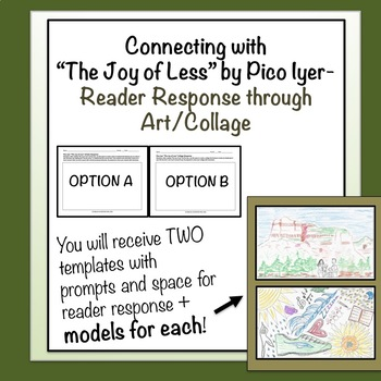 """""""The Joy of Less"""" by Pico Iyer - Reader Response through Art/Collage"""
