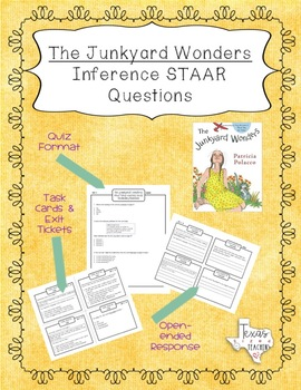 """""""The Junkyard Wonders"""" Inference STAAR Questions and Task Cards"""