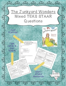 """The Junkyard Wonders"" Mixed STAAR Questions and Task Cards"