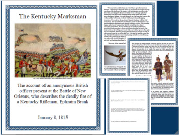 War of 1812 Battle of New Orleans Primary Source Close Reading-Middle & High