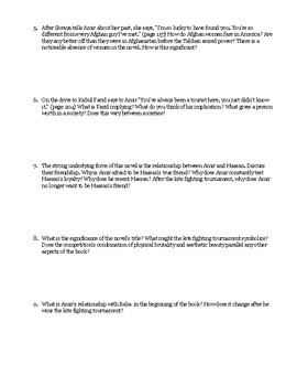 """The Kite Runner"" End of Reading Discussion Guide"
