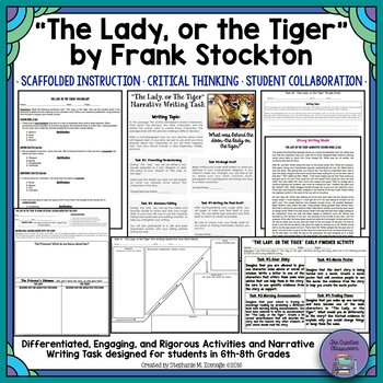 """The Lady, or the Tiger"" Close Reading and Narrative Writing Task Unit"