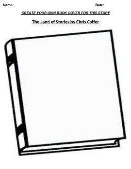 """The Land of Stories"" by Chris Colfer Book Cover Worksheet"