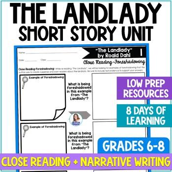 """""""The Landlady"""" by Roald Dahl Close Reading & Narrative Writing Task Unit"""