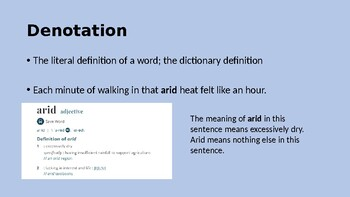 """The Landlady"" by Roald Dahl Connotation & Denotation PowerPoint"