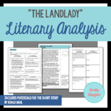 """The Landlady"" by Roald Dahl Literary Analysis Graphic Organizers"