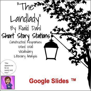 """The Landlady"" by Roald Dahl  Short Story Literacy Stations CCSS"