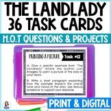 """""""The Landlady"""" by Roald Dahl Task Cards with EDITABLE Templates"""