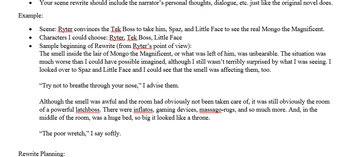 """The Last Book in the Universe"" Scene Rewrite Creative Writing Assignment"