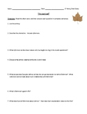 """The Last Leaf"" Worksheet, Assessment, or Homework with Detailed Answer Key"