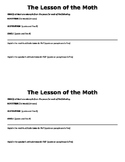 """""""The Lesson of the Moth"""" figurative language and theme"""