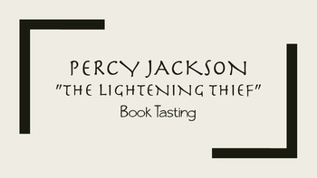 """The Lightning Thief"" Book Tasting"