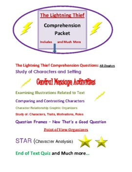 """""""The Lightning Thief"""" - Comprehension Packet"""