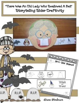 """""""There Was An Old Lady Who Swallowed A Bat"""" Sequencing & Storytelling Slider"""