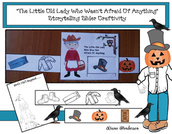 """The Little Old Lady Who Wasn't Afraid Of Anything"" Storytelling Slider Craft"