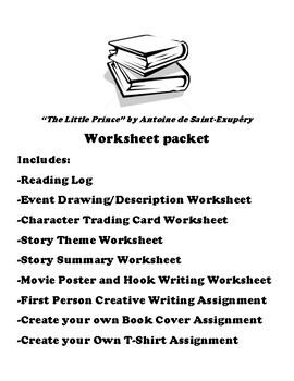 """The Little Prince"" by Antoine de Saint-Exupéry Worksheet Packet"