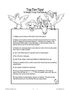 """The Little Red Hen"": Classroom Management"