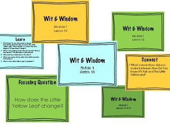'The Little Yellow Leaf' Wit and Wisdom Guiding PowerPoints
