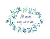 'The Lord is My Shepherd' (Watercolor)