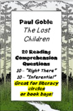 """The Lost Children"" by Paul Goble - reading comprehension questions"