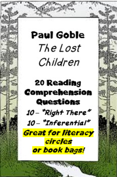 """""""The Lost Children"""" by Paul Goble - reading comprehension questions"""