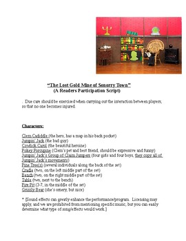 """""""The Lost Gold Mine (A Readers Theater Participation Script)"""" New Book Trailer"""