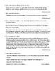 """""""The Lottery"""" Assessment or Review Worksheet with Detailed Answer Key"""