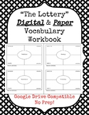 """The Lottery"" Digital & Paper Vocabulary Workbooks"