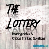 """The Lottery"" Reading Notes & Critical Thinking Questions"