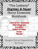 """The Lottery"" Story Elements Workbook (Digital & Paper Versions)"
