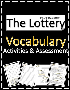 "Shirley Jackson's ""The Lottery"" Vocabulary Activities and Assessment"