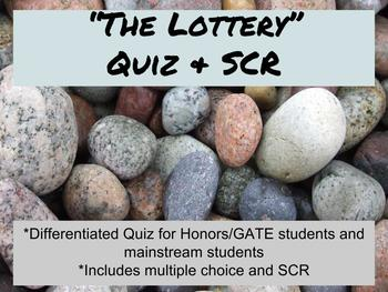 """The Lottery"" by Shirley Jackson Quiz & SCR"