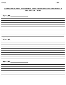"""The Man In The Moon"" by L. Frank Baum Theme Worksheet"
