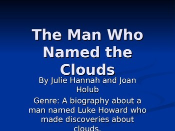 """""""The Man Who Named the Clouds"""" Reading Street 2011"""