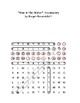 """The Man in the Water"" Essay Vocabulary Word Search with Hidden Message + Def's"