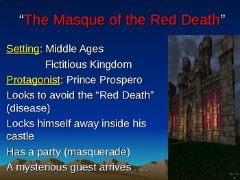 """The Masque of the Red Death"" Notes"