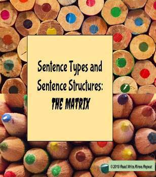 """The Matrix"" Activity and Guided notes: Sentence Types and Structures: Slides"