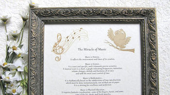 """The Miracle of Music"" framed print"