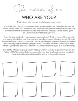 """The Mirror of Me"" Creative Activity: Perfect for the New Year"