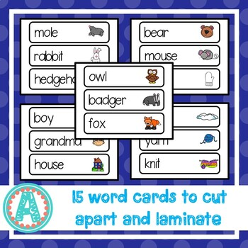 """The Mitten"" Word Cards"