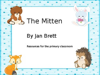 """""""The Mitten"""" by Jan Brett vocabulary, sequencing, compare/contrast"""