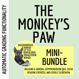 """The Monkey's Paw"" Bundle - Close Reading, Quiz & Google S"