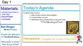 """The Monkey's Paw"" Complete Short Story Bundle with The Suspense Unit Bundle!"