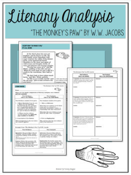 """The Monkey's Paw"" Literary Analysis and Interactive Notebook Bundle"