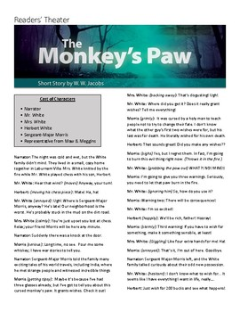 """The Monkey's Paw"" Readers Theater Script"
