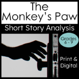 """Short Story """"The Monkey's Paw"""" Analysis, Writing and Textual Evidence"""