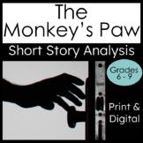 Short Story The Monkey's Paw Literary Analysis Print and Digital