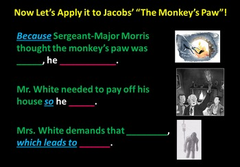 """""""The Monkey's Paw"""" Unit with Creative Strategies for Colla"""