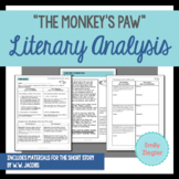 """The Monkey's Paw"" by W.W. Jacobs Literary Analysis Graphic Organizers"